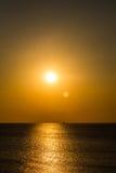 Sonnenuntergang auf dem Golf von Finnland Lizenzfreie Stockbilder