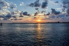 Sonnenuntergang auf dem Golf von Mexiko stockbild