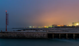 Sonnenuntergang auf dem Hafen Stockfoto