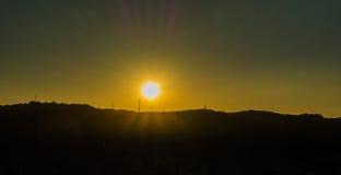 Sonnenuntergang auf dem Horizont Lizenzfreie Stockfotografie