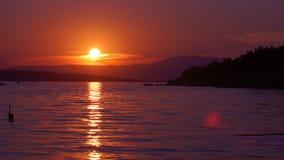 Sonnenuntergang auf dem Meer Stockbilder