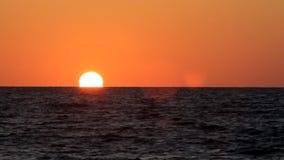 Sonnenuntergang auf dem Meer in Israel. stock video footage