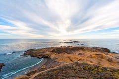 Sonnenuntergang auf dem Meer an Punkt Lobos stockfotografie