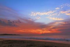 Sonnenuntergang auf dem Mittelmeer Stockfoto