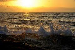 Sonnenuntergang auf dem Pazifischen Ozean Lizenzfreie Stockbilder