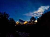 Sonnenuntergang auf dem Pedriza Stockfotografie
