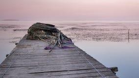 Sonnenuntergang auf dem Pier Lizenzfreies Stockfoto