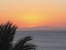 Sonnenuntergang auf dem Roten Meer Stockbild