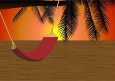 Sonnenuntergang auf dem Strand Lizenzfreie Abbildung