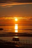 Sonnenuntergang auf dem Strand Lizenzfreies Stockbild