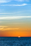 Sonnenuntergang auf dem Strand im Südwesten Florida Lizenzfreies Stockbild