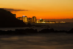 Sonnenuntergang auf dem Bollulo. Lizenzfreie Stockfotos