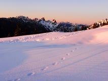 Sonnenuntergang auf den Bergen Stockfotos