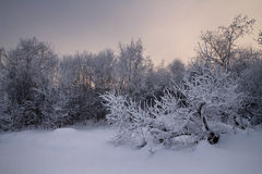 Sonnenuntergang auf den des Urals Bergen Stockfoto