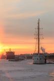 Sonnenuntergang auf den des Urals Bergen Lizenzfreies Stockfoto