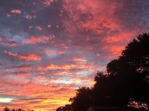 Sonnenuntergang auf den Wolken Lizenzfreies Stockbild