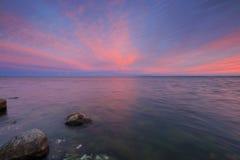 Sonnenuntergang auf der Bucht des Kobolds Stockbilder