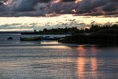 Sonnenuntergang auf der Bucht des Kobolds Lizenzfreie Stockfotografie