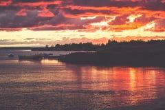 Sonnenuntergang auf der Bucht des Kobolds Lizenzfreies Stockbild