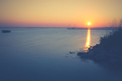 Sonnenuntergang auf der Bucht des Kobolds Lizenzfreie Stockfotos