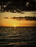 Sonnenuntergang auf der Golf-Küste 4 Stockbild