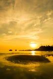 Sonnenuntergang auf der Insel Stockfotos