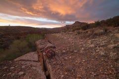 Sonnenuntergang auf der Jem-Spur in Süd-Utah stockbilder