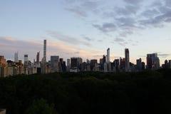 Sonnenuntergang auf der oberen Ostseite 5 Stockbild