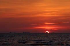 Sonnenuntergang auf der Ostsee Lizenzfreies Stockfoto