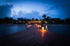 Sonnenuntergang auf der Promenade Lizenzfreie Stockfotos