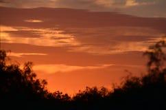 Sonnenuntergang auf der Ranch lizenzfreies stockbild