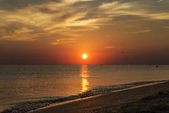 Sonnenuntergang auf der Seeküste Stockbilder