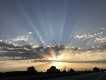Sonnenuntergang auf der Straße Lizenzfreie Stockfotografie