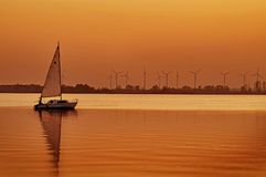 Sonnenuntergang auf Dummer See Stockfoto