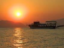 Sonnenuntergang auf Evia-Insel 2 lizenzfreie stockfotografie