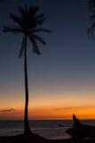 Sonnenuntergang auf großer Insel, Hawaii Lizenzfreie Stockfotografie