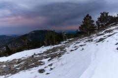 Sonnenuntergang auf Hauptberg - Colorado lizenzfreie stockbilder