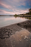 Sonnenuntergang auf Hauser See lizenzfreies stockfoto