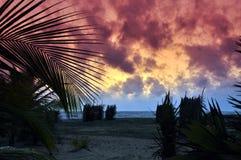 Sonnenuntergang auf Kalpitiya-Halbinsel lizenzfreie stockbilder