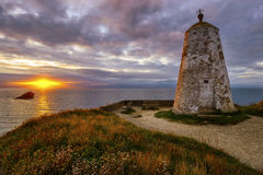 Sonnenuntergang auf Leuchtturm-Hügel Stockfotografie