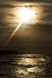 Sonnenuntergang auf Meer Stockbild