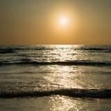 Sonnenuntergang auf Meer Stockfotografie
