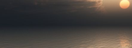 Sonnenuntergang auf Meer Lizenzfreie Stockbilder