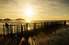 Sonnenuntergang auf Meer Lizenzfreie Stockfotografie