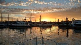 Sonnenuntergang auf Meer Lizenzfreies Stockfoto