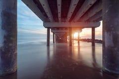 Sonnenuntergang auf Ostsee Stockfotografie
