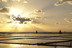Sonnenuntergang auf Salternviertel Lizenzfreie Stockbilder