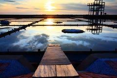 Sonnenuntergang auf Salz-Wanne Stockfoto