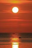 Sonnenuntergang auf Samui Insel lizenzfreies stockfoto