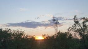 Sonnenuntergang auf Sommer Lizenzfreies Stockbild